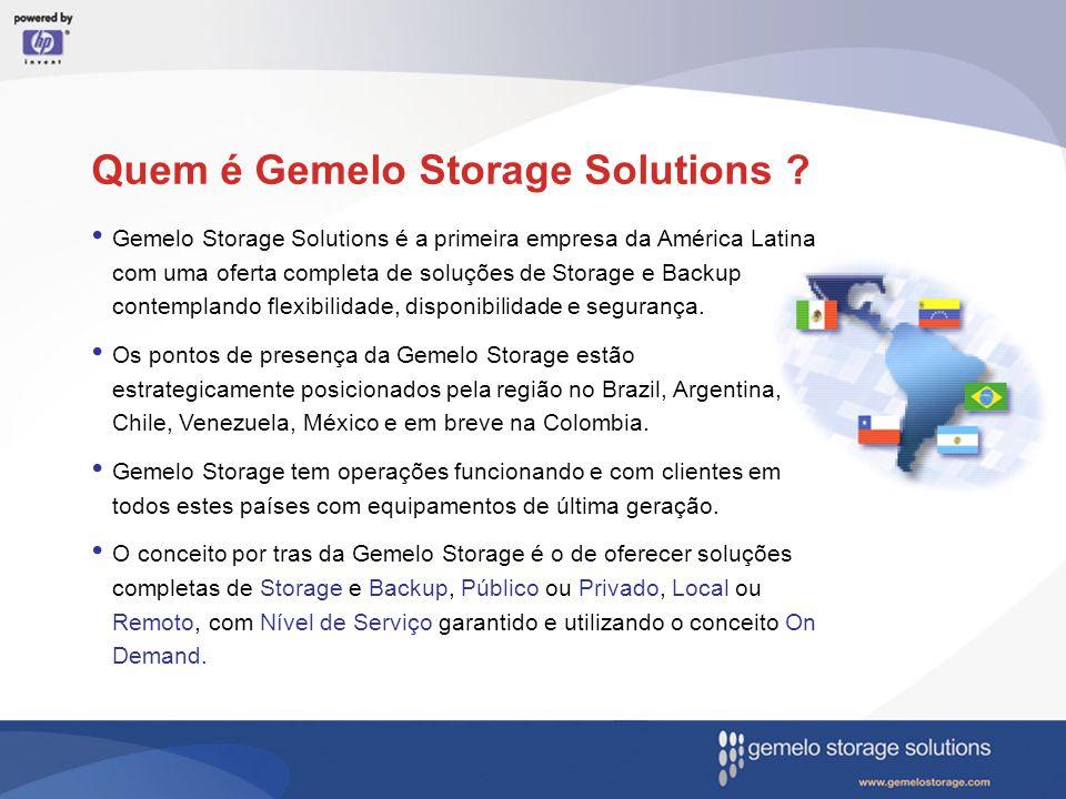 Quem é Gemelo Storage Solutions ?. Gemelo Storage Solutions é a primeira empresa da América Latina com uma oferta completa de soluções de Storage e Ba