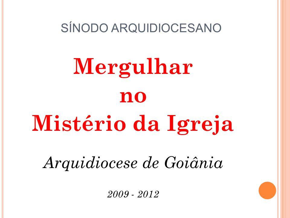 SÍNODO ARQUIDIOCESANO Mergulhar no Mistério da Igreja Arquidiocese de Goiânia 2009 - 2012