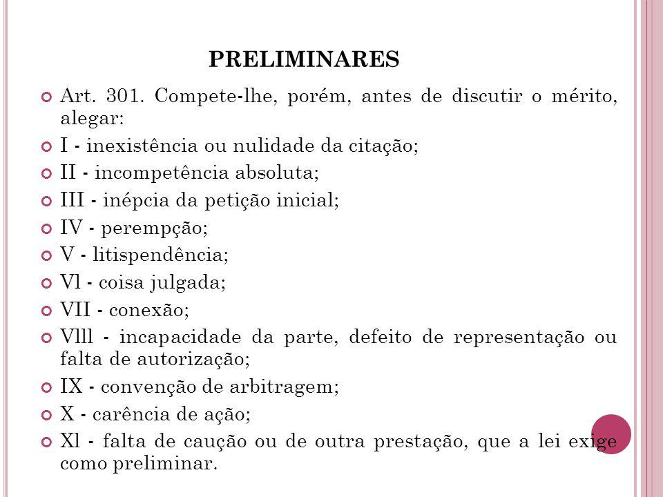 PRELIMINARES Art.301.