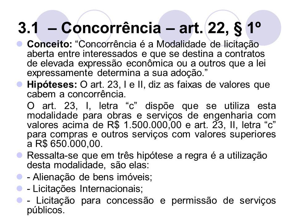3.1 – Concorrência – art.