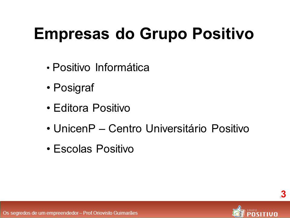 Empresas do Grupo Positivo Positivo Informática Posigraf Editora Positivo UnicenP – Centro Universitário Positivo Escolas Positivo Os segredos de um e