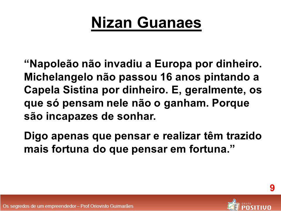 Nizan Guanaes Napoleão não invadiu a Europa por dinheiro.