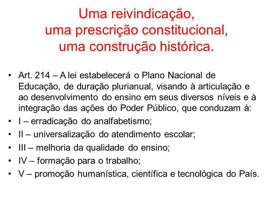 Uma reivindicação, uma prescrição constitucional, uma construção histórica.