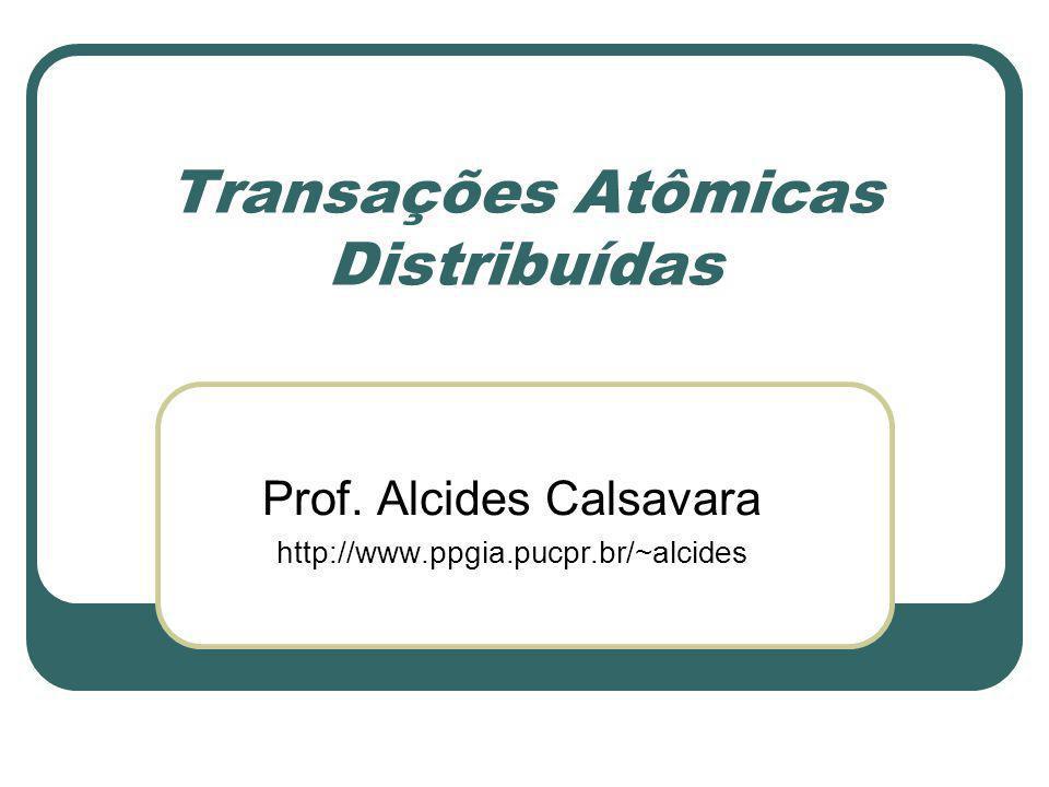 Transações Atômicas Distribuídas Prof. Alcides Calsavara http://www.ppgia.pucpr.br/~alcides
