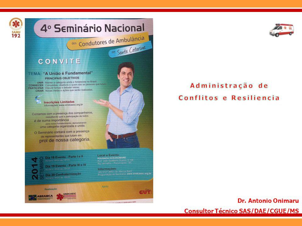 Dr. Antonio Onimaru Consultor Técnico SAS/DAE/CGUE/MS
