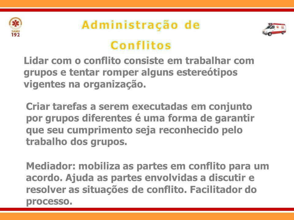 A solução de conflitos ocorre mediante 3 estratégias: Há a repressão das reações emocionais e a procura de outros caminhos, ou mesmo o abandono da situação.