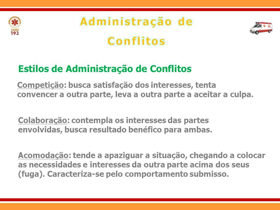 Compromisso: uma das partes do conflito desiste de alguns pontos ou itens, levando a distribuir os resultados entre ambas as partes.