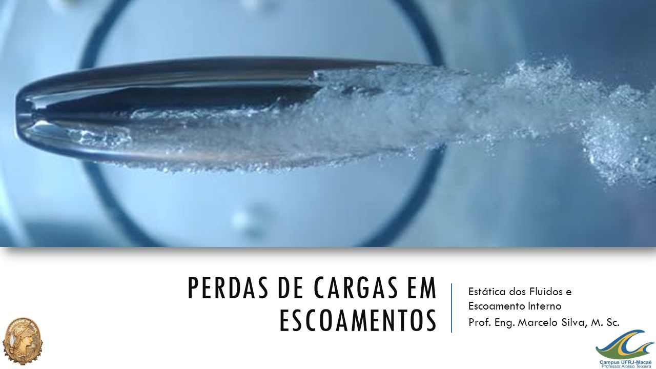 PERDAS DE CARGAS EM ESCOAMENTOS Estática dos Fluidos e Escoamento Interno Prof. Eng. Marcelo Silva, M. Sc.