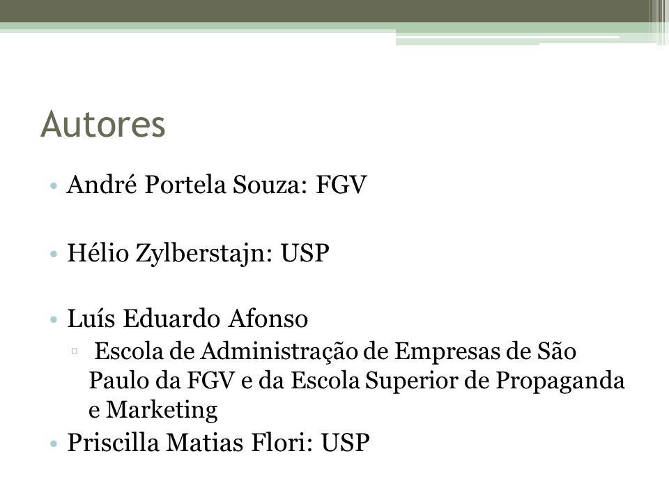 Autores André Portela Souza: FGV Hélio Zylberstajn: USP Luís Eduardo Afonso ▫ Escola de Administração de Empresas de São Paulo da FGV e da Escola Supe