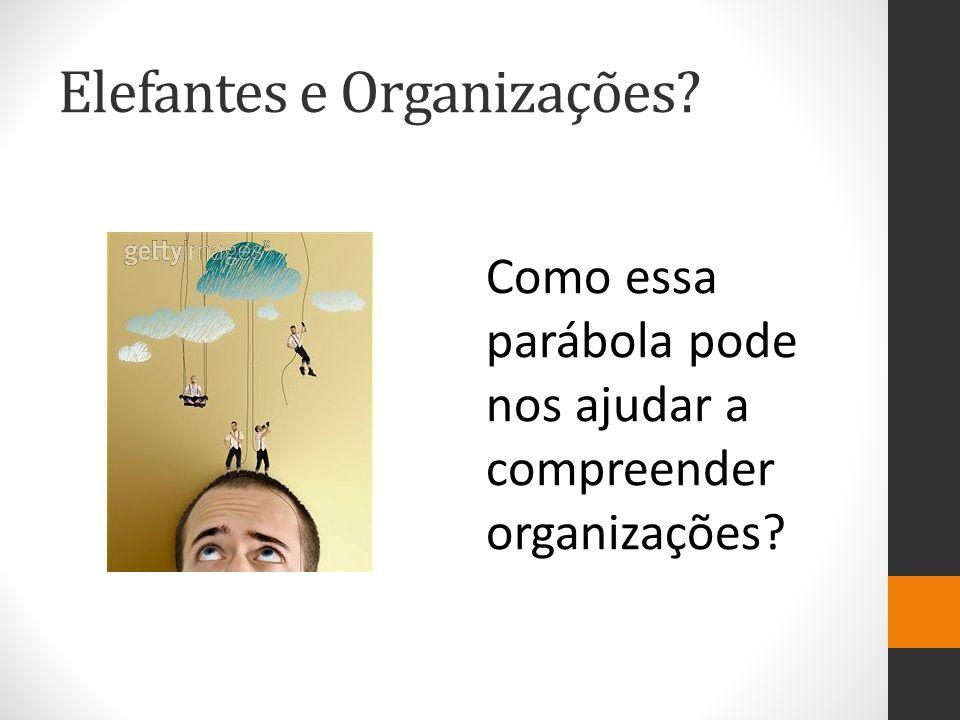 Elefantes e Organizações? Como essa parábola pode nos ajudar a compreender organizações?