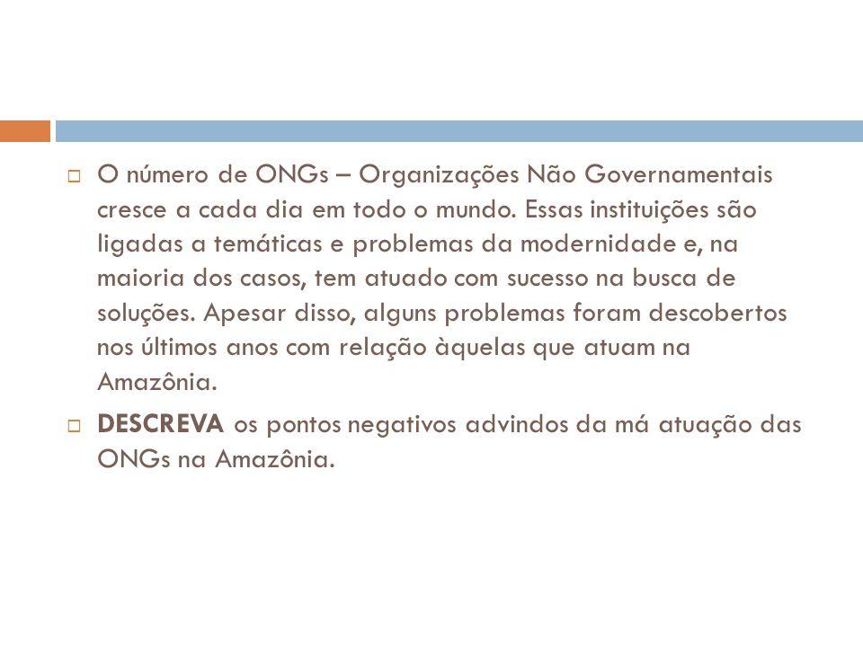 O número de ONGs – Organizações Não Governamentais cresce a cada dia em todo o mundo. Essas instituições são ligadas a temáticas e problemas da mode
