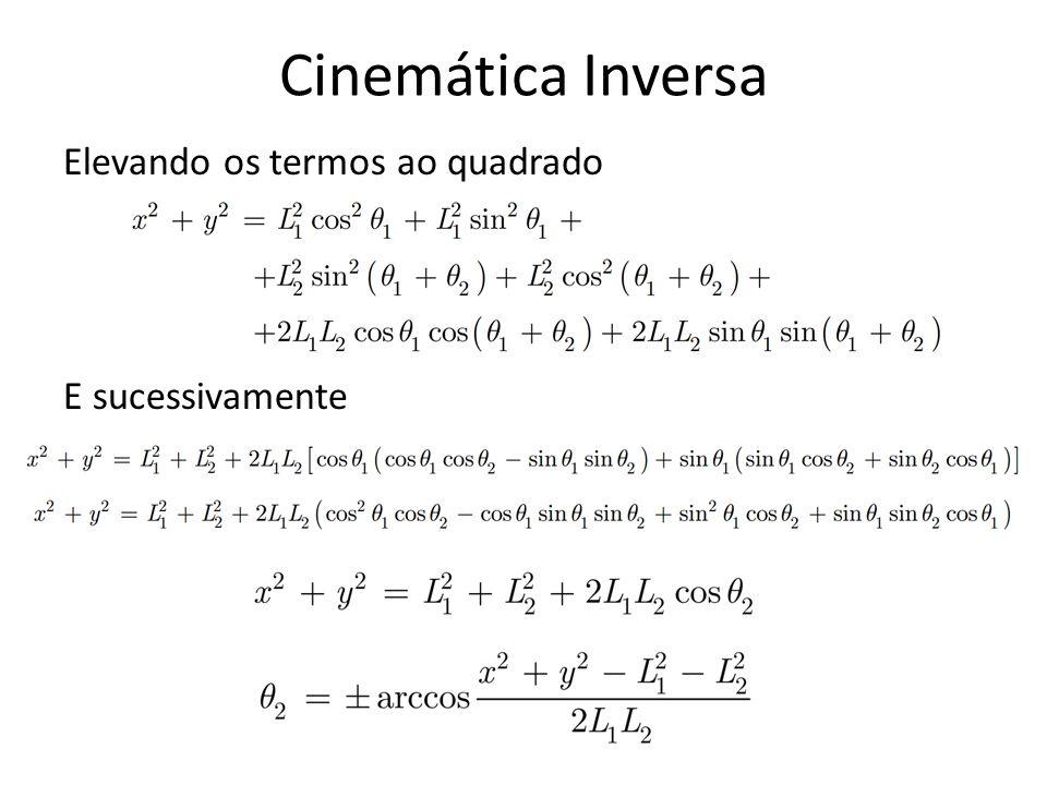Observa-se a existência matemática de duas soluções para Ө 2.