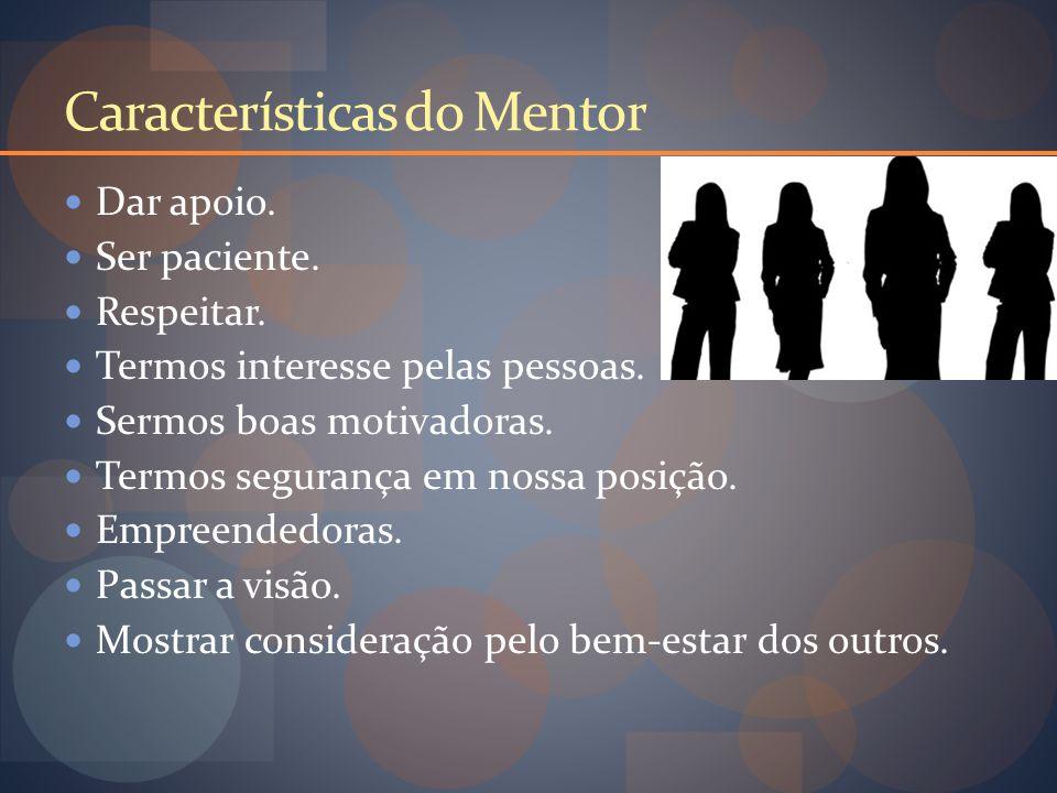 Características do Mentor Dar apoio. Ser paciente.