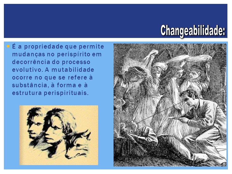  É a propriedade que permite mudanças no perispírito em decorrência do processo evolutivo. A mutabilidade ocorre no que se refere à substância, à for