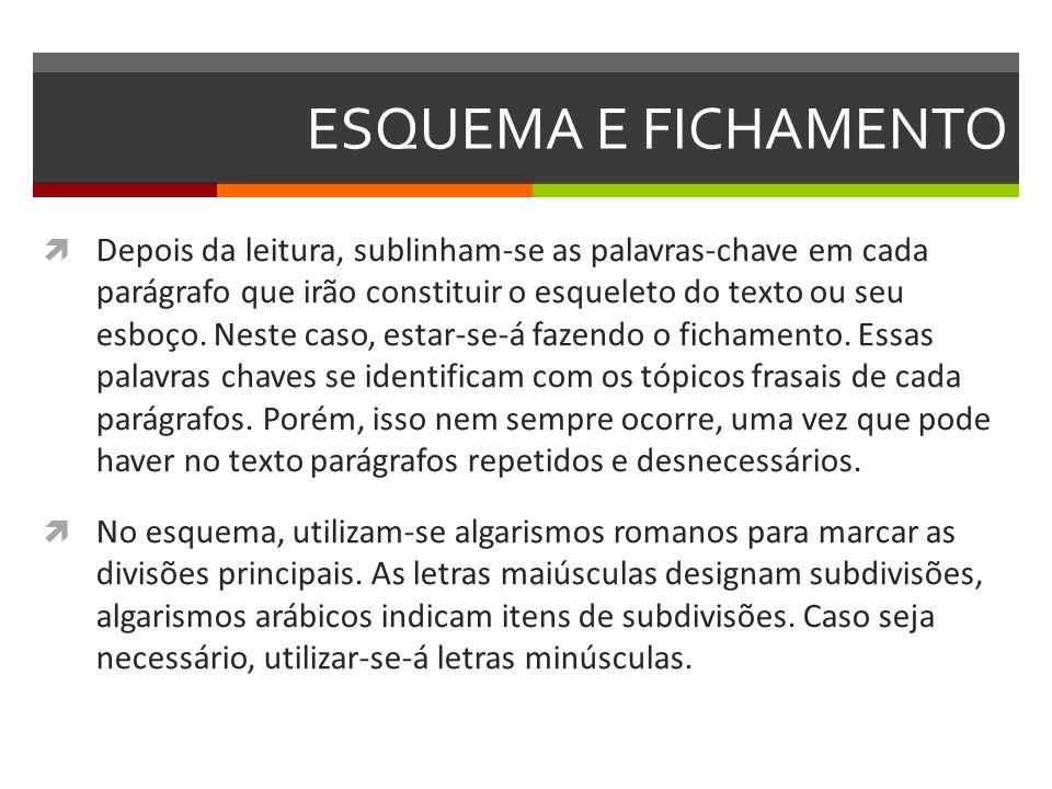ESQUEMA E FICHAMENTO I.LER E ESCREVE NO ROMANCE FEMININO 1.
