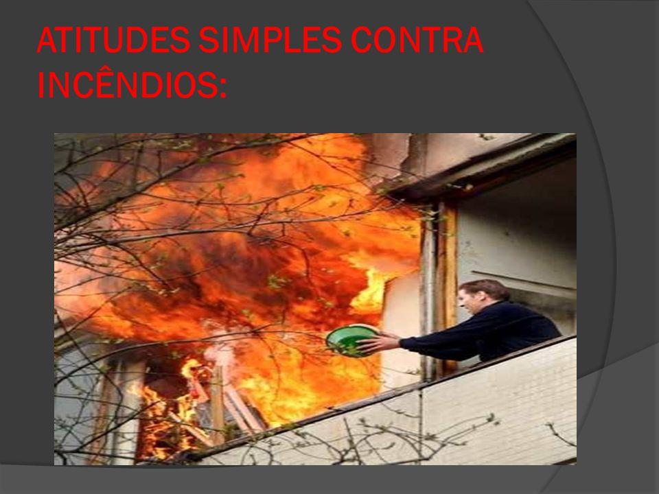 ATITUDES SIMPLES CONTRA INCÊNDIOS: