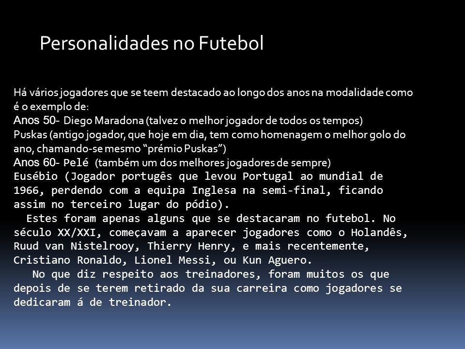 Há vários jogadores que se teem destacado ao longo dos anos na modalidade como é o exemplo de: Anos 50- Diego Maradona (talvez o melhor jogador de tod