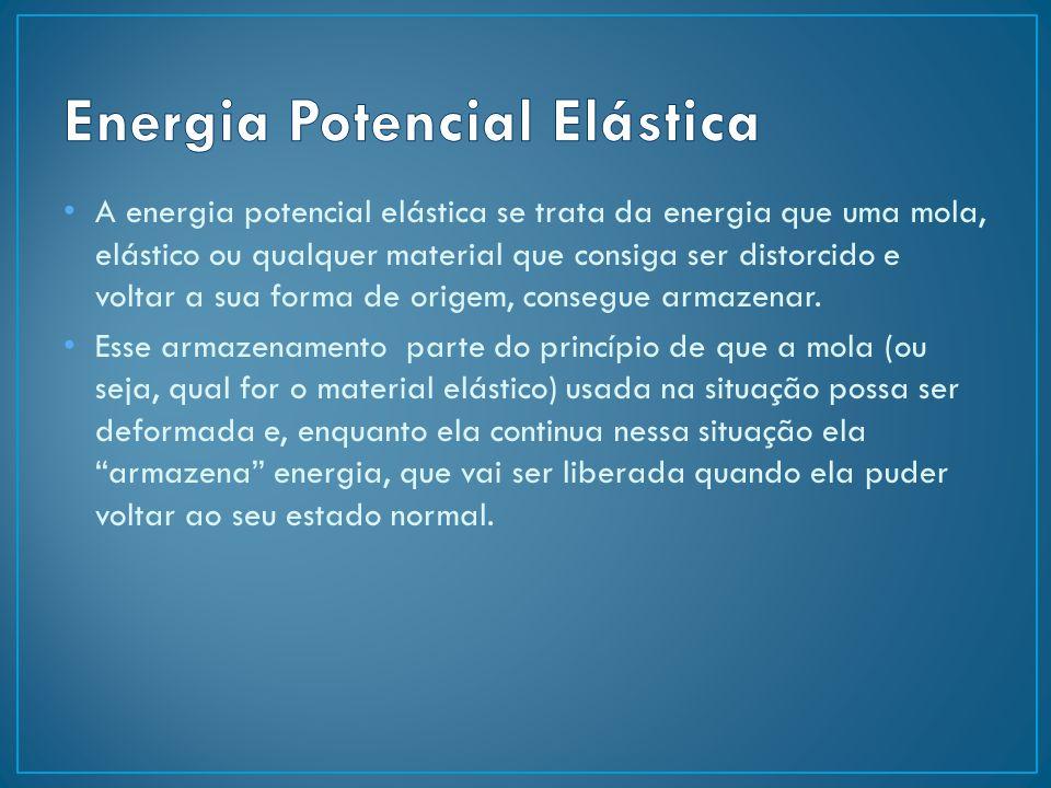 A energia potencial elástica se trata da energia que uma mola, elástico ou qualquer material que consiga ser distorcido e voltar a sua forma de origem