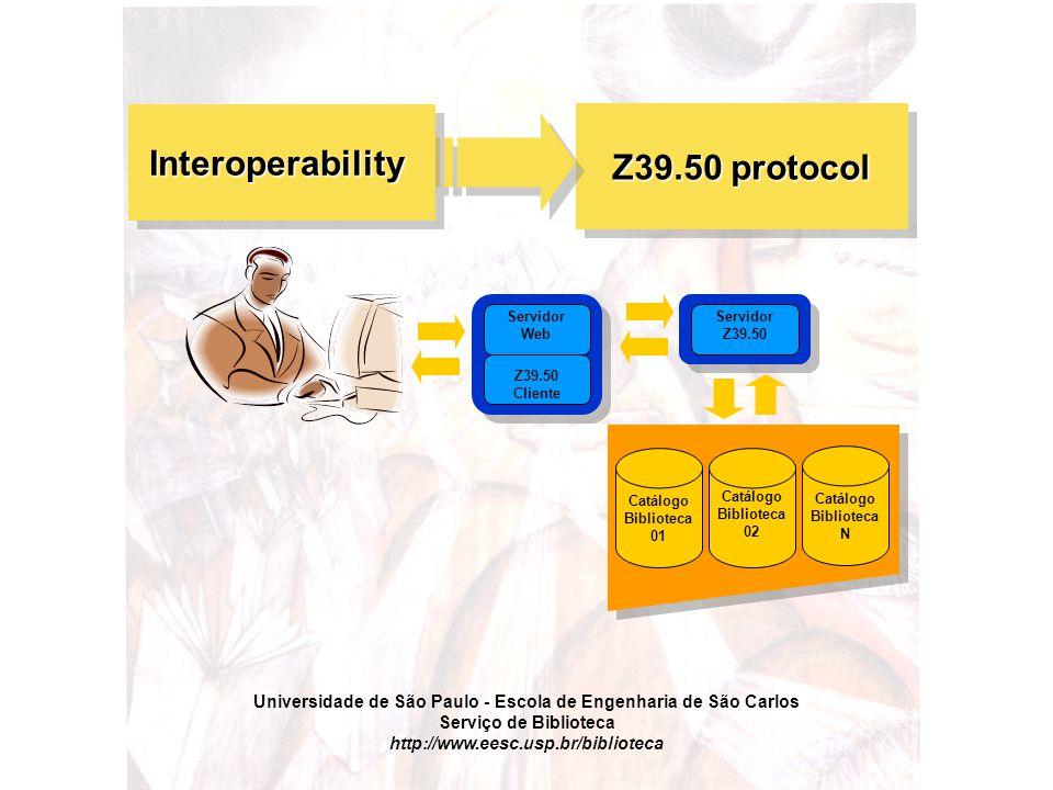 Universidade de São Paulo - Escola de Engenharia de São Carlos Serviço de Biblioteca http://www.eesc.usp.br/biblioteca Z39.50 protocol Interoperabilit