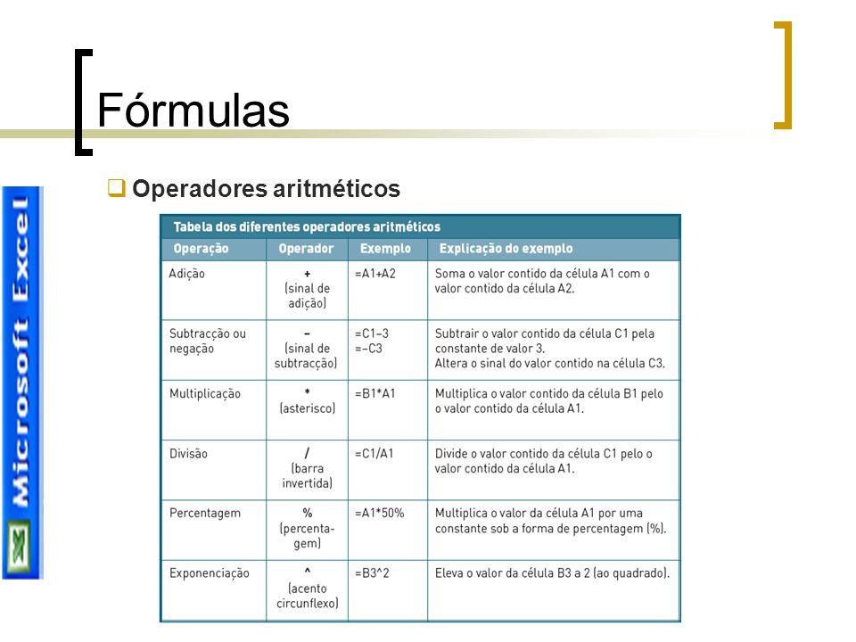 Joana Sousa Fórmulas  Operadores aritméticos