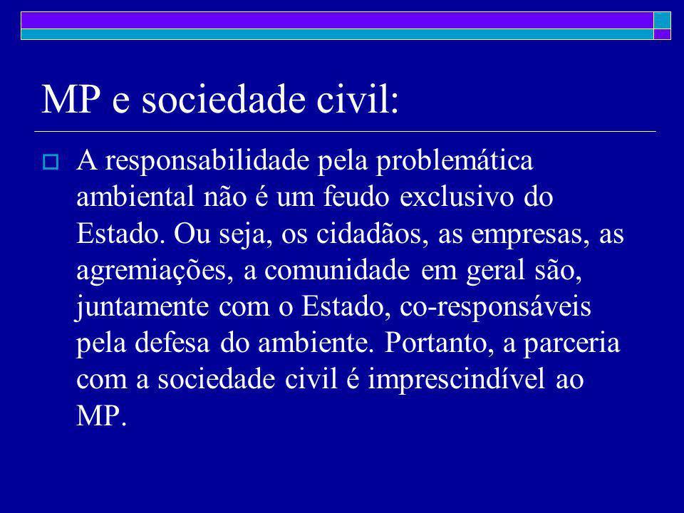 MP e sociedade civil:  A responsabilidade pela problemática ambiental não é um feudo exclusivo do Estado.