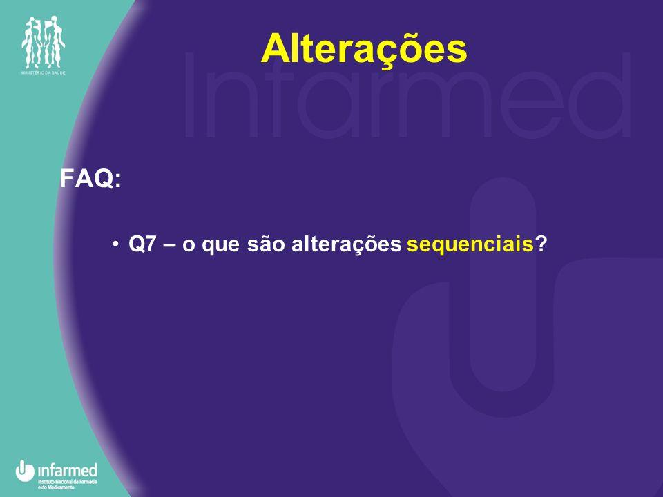 FAQ: Q7 – o que são alterações sequenciais Alterações