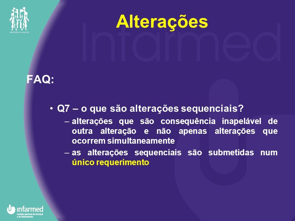FAQ: Q7 – o que são alterações sequenciais.