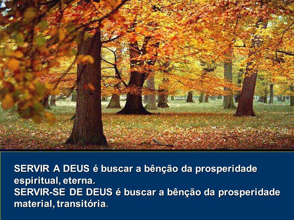 SERVIR A DEUS é buscar a bênção da prosperidade espiritual, eterna.