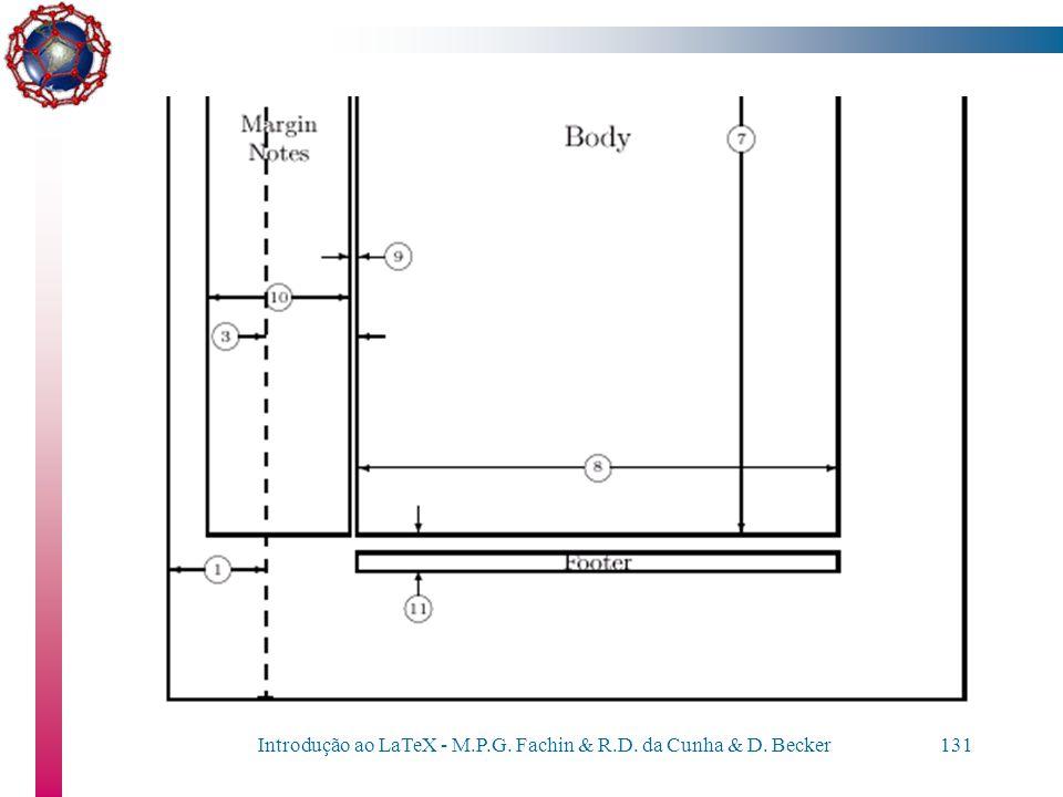 Introdução ao LaTeX - M.P.G. Fachin & R.D. da Cunha & D. Becker130