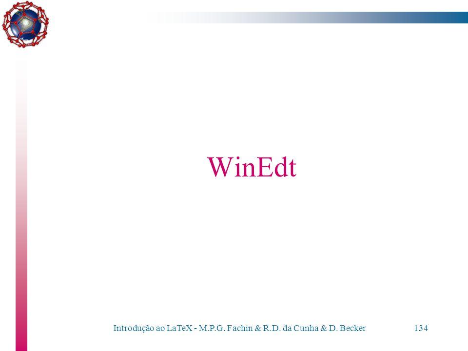 Introdução ao LaTeX - M.P.G. Fachin & R.D. da Cunha & D. Becker133 Personalizando documentos Exemplo \addtolength{\hoffset}{-0.5cm} \addtolength{\text