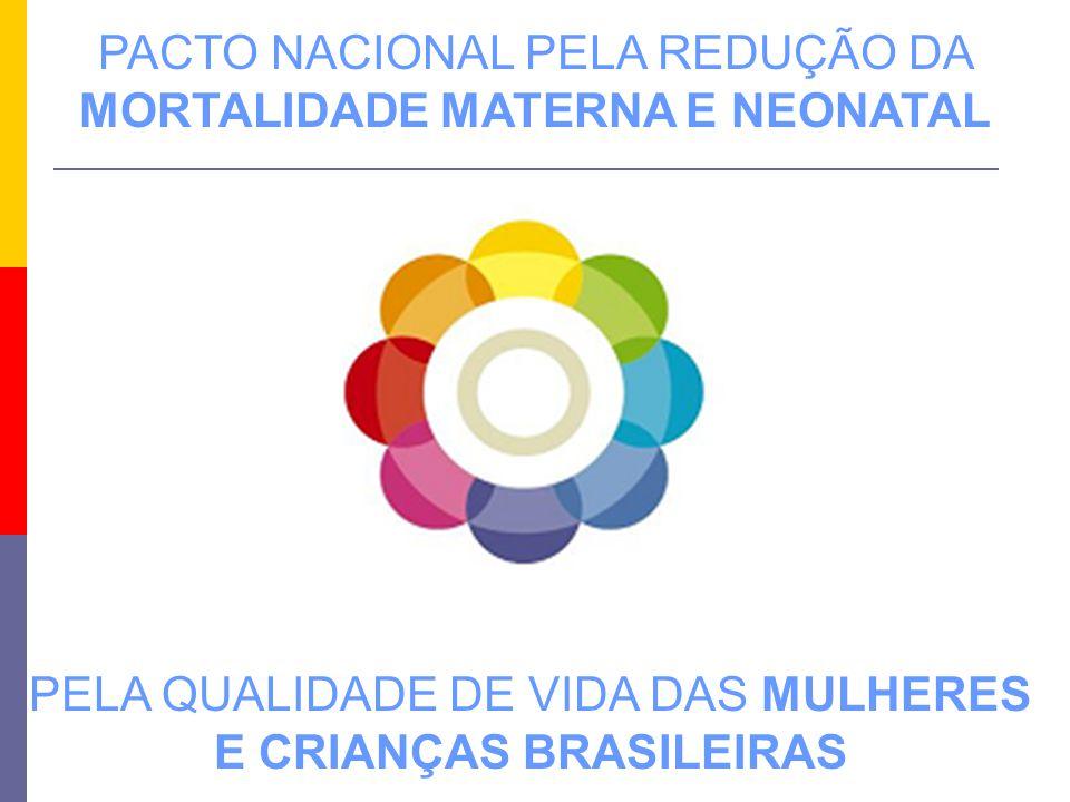 PELA QUALIDADE DE VIDA DAS MULHERES E CRIANÇAS BRASILEIRAS PACTO NACIONAL PELA REDUÇÃO DA MORTALIDADE MATERNA E NEONATAL