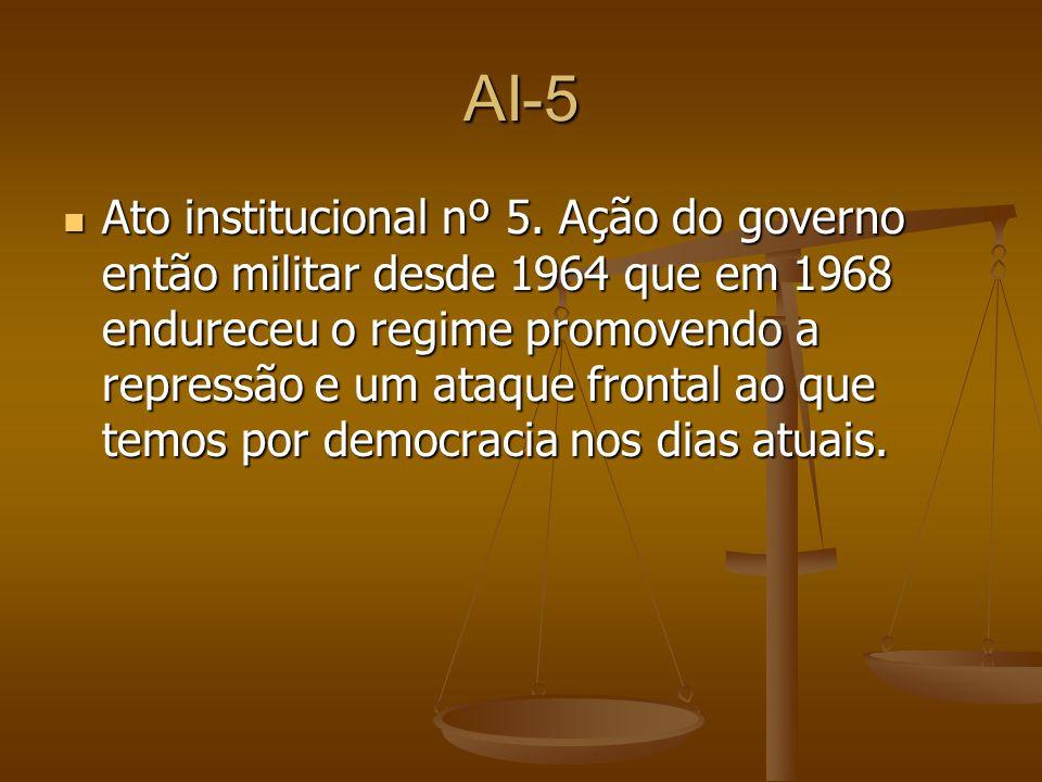 AI-5 Ato institucional nº 5.