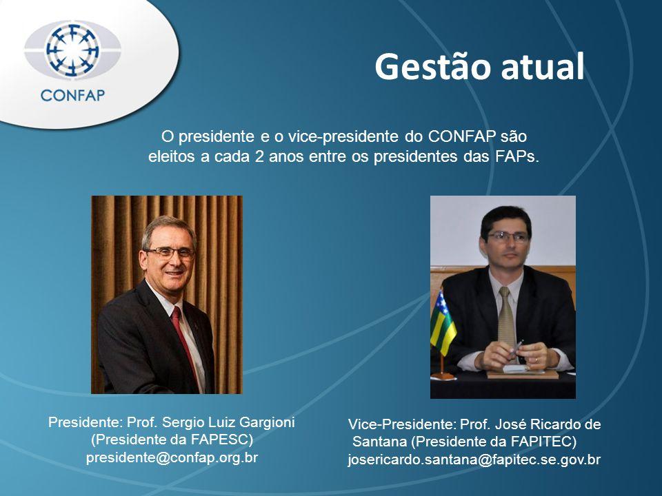 Gestão atual Vice-Presidente: Prof.