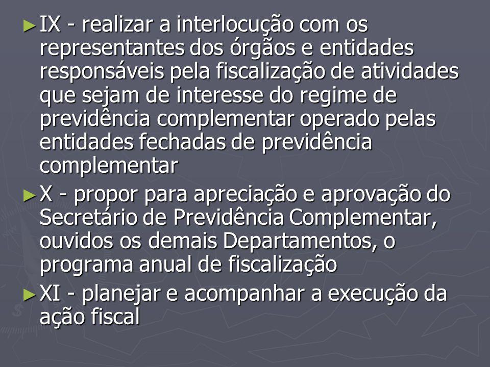 ► IX - realizar a interlocução com os representantes dos órgãos e entidades responsáveis pela fiscalização de atividades que sejam de interesse do reg
