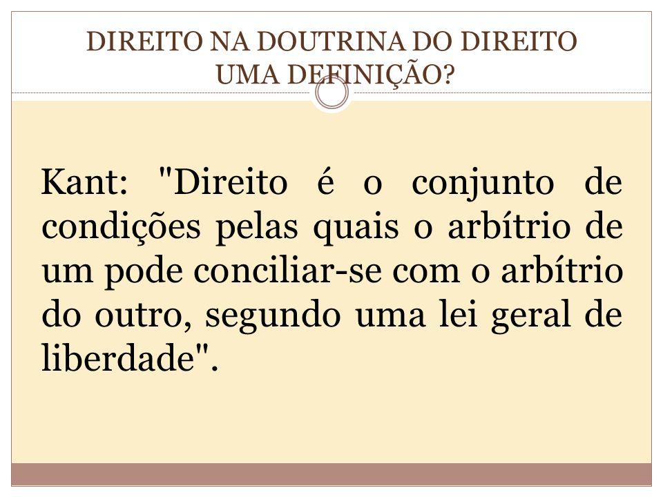 DIREITO NA DOUTRINA DO DIREITO UMA DEFINIÇÃO.