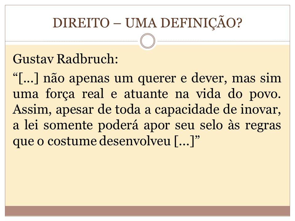 DIREITO – UMA DEFINIÇÃO.