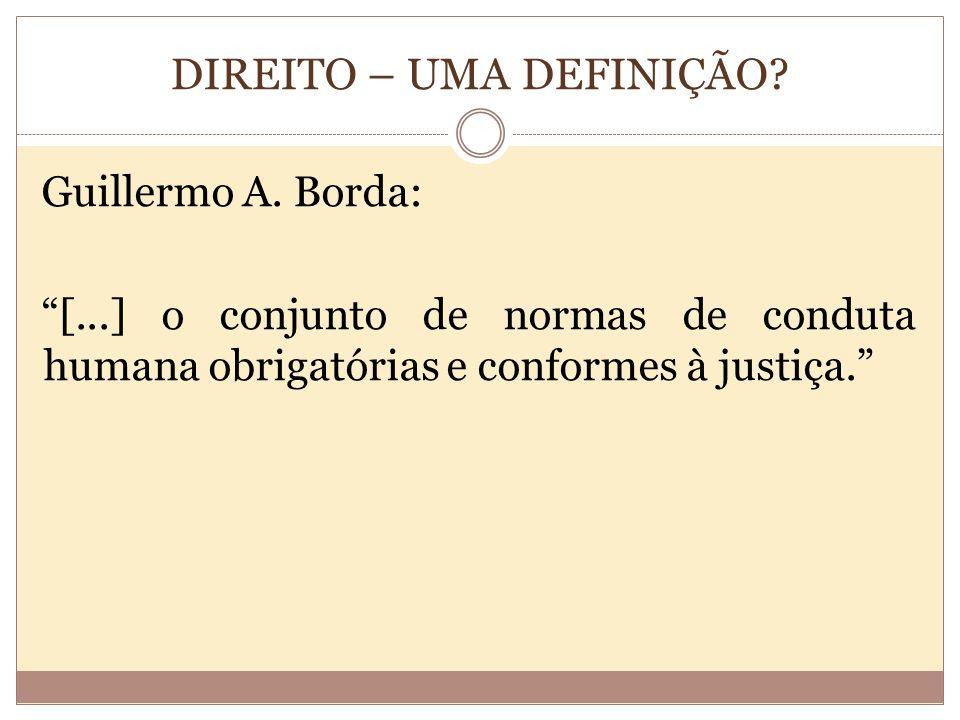 DIREITO – UMA DEFINIÇÃO.Guillermo A.