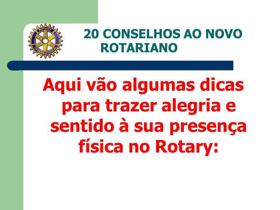 Introdução Ao tomar posse no Rotary, seu padrinho certamente informou-lhe que os compromissos mais importantes são a freqüência e o pagamento correto