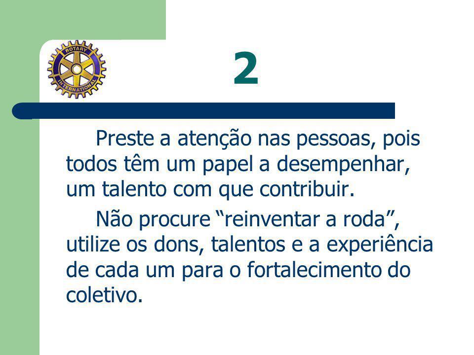 1 Procure conhecer o Rotary, sua missão, seus objetivos. Estude as metas e sonhos do seu clube e as ênfases e objetivos do Presidente do Rotary Intern