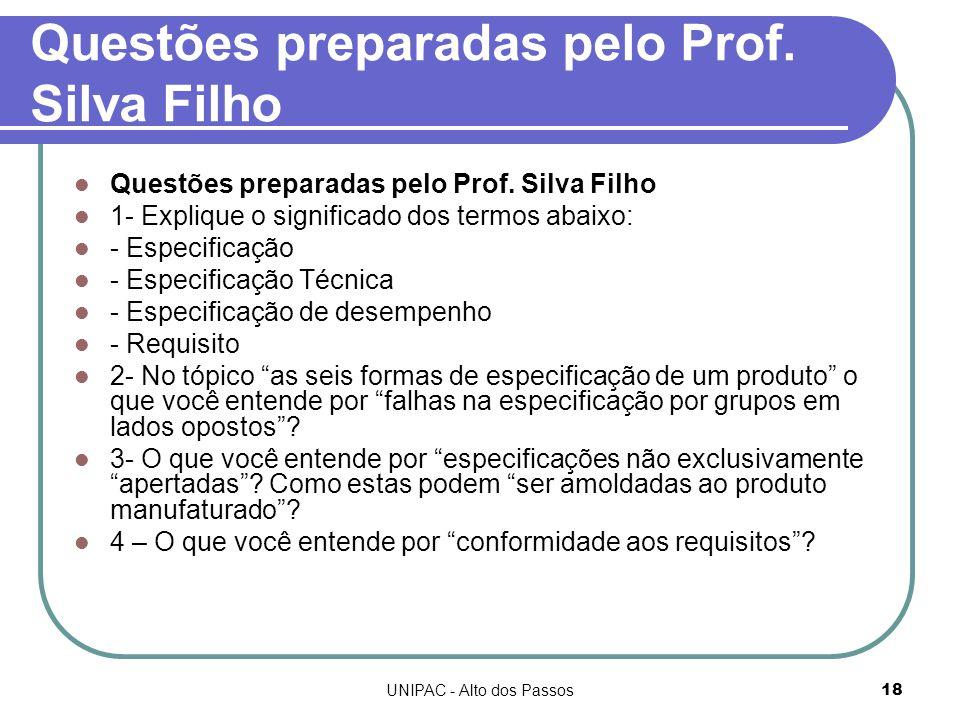 UNIPAC - Alto dos Passos18 Questões preparadas pelo Prof.