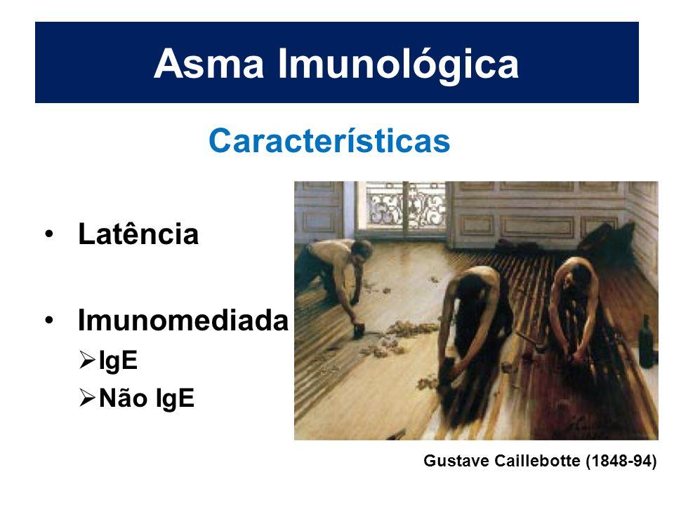 Asma Imunológica Características Latência Imunomediada  IgE  Não IgE Gustave Caillebotte (1848-94)