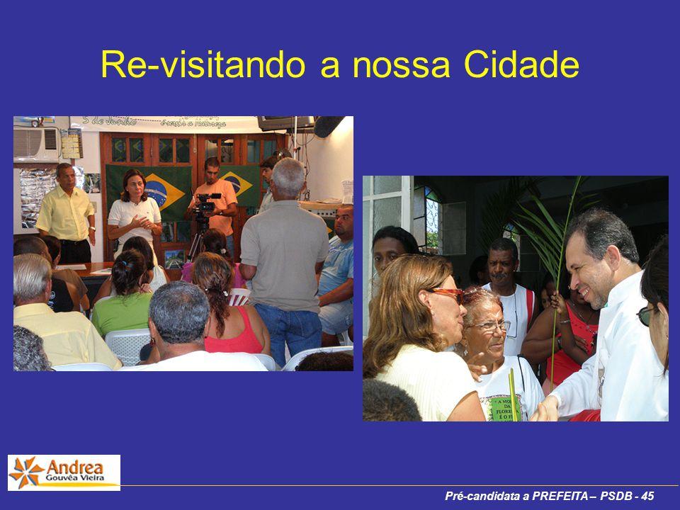 Pré-candidata a PREFEITA – PSDB - 45 Re-visitando a nossa Cidade