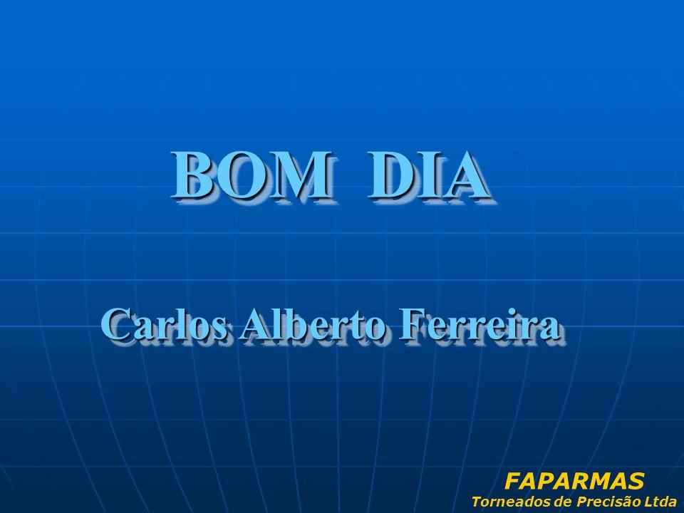 BOM DIA Carlos Alberto Ferreira BOM DIA Carlos Alberto Ferreira FAPARMAS Torneados de Precisão Ltda