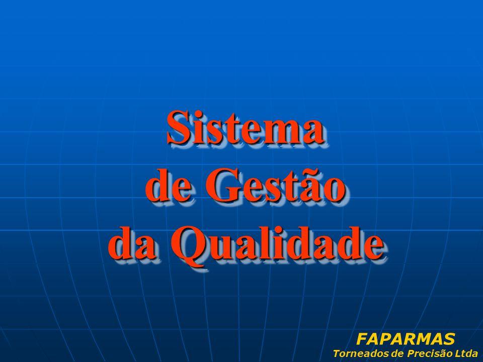 Sistema de Gestão da Qualidade Sistema de Gestão da Qualidade FAPARMAS Torneados de Precisão Ltda