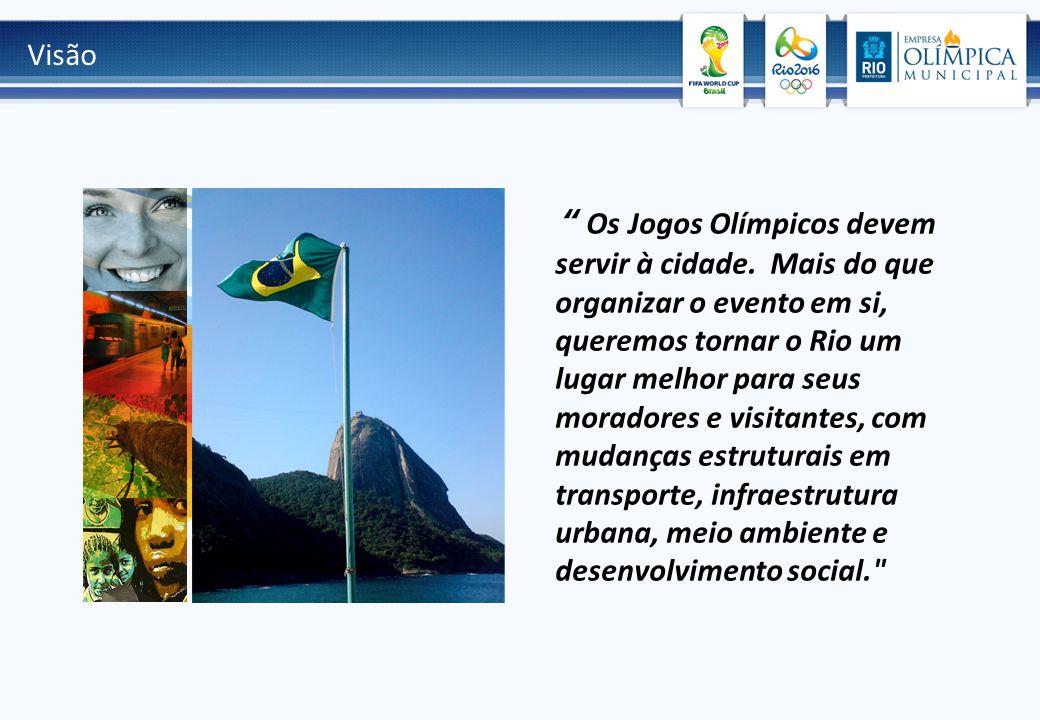 Visão Os Jogos Olímpicos devem servir à cidade.