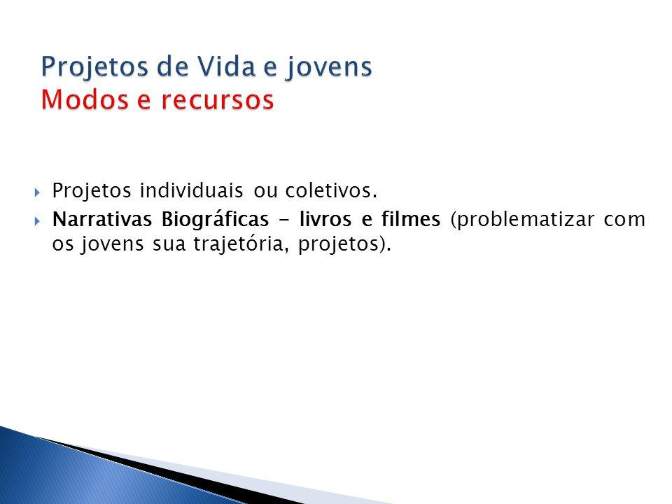  Projetos individuais ou coletivos.