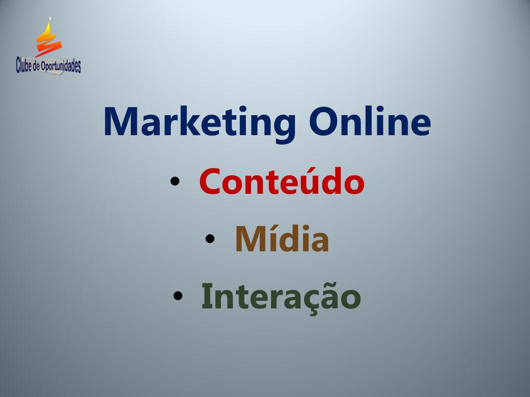 Marketing Online Conteúdo Mídia Interação