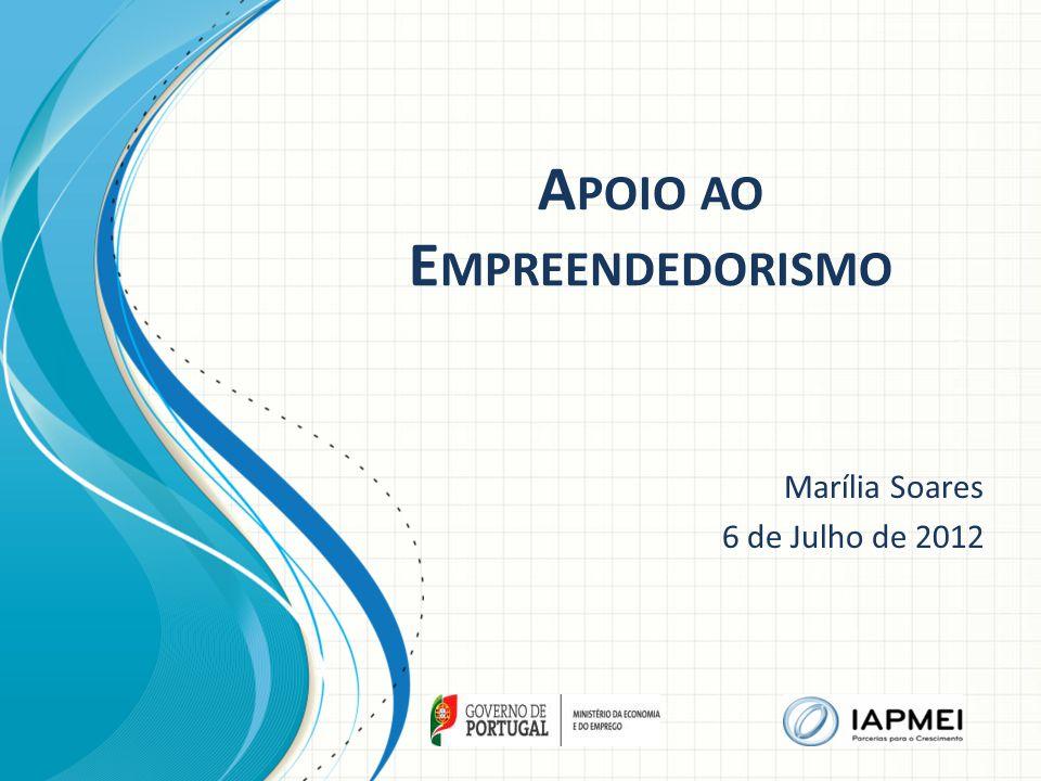 A POIO AO E MPREENDEDORISMO Marília Soares 6 de Julho de 2012