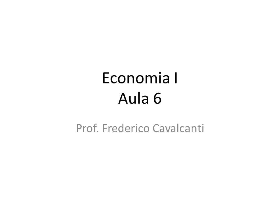 Economia I Aula 6 Prof. Frederico Cavalcanti
