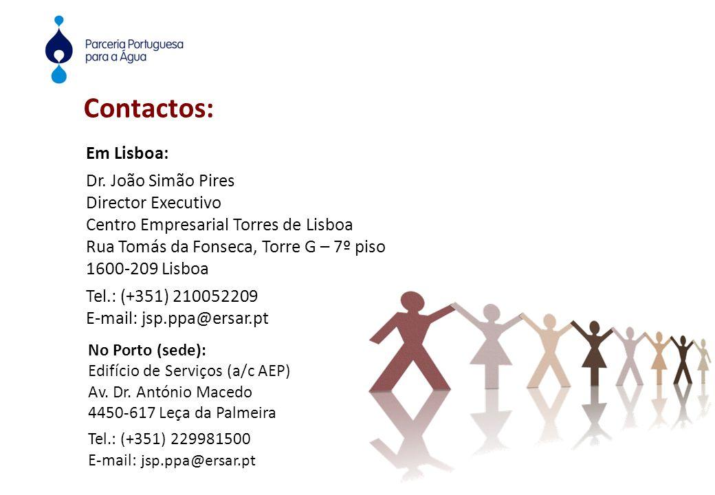 Contactos: No Porto (sede): Edifício de Serviços (a/c AEP) Av.